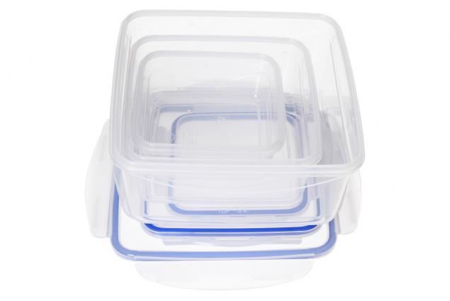 Foto 3 - Sada hranatých dóz na potraviny s gumovým těsněním 3 kusy