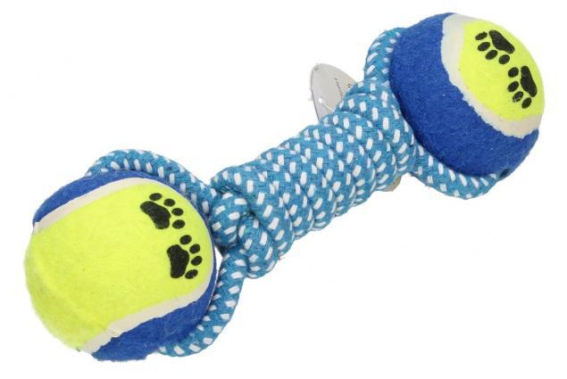 Foto 3 - Hračka pro psa provaz s tenisáky a ťapkami