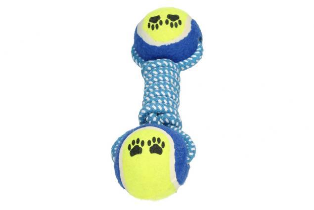 Foto 4 - Hračka pro psa provaz s tenisáky a ťapkami