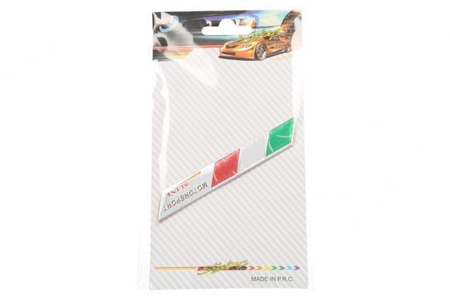 Foto 4 - Kovová samolepka Itálie Motorsport sline 9 x 1,5 cm