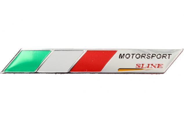 Foto 3 - Kovová samolepka Itálie Motorsport sline 9 x 1,5 cm