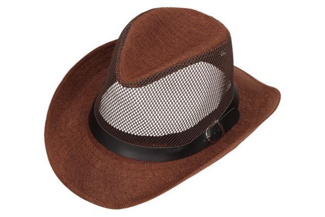 Foto 4 - Letní klobouk s děrováním a páskem