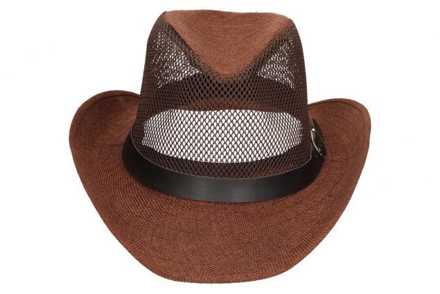 Foto 5 - Letní klobouk s děrováním a páskem