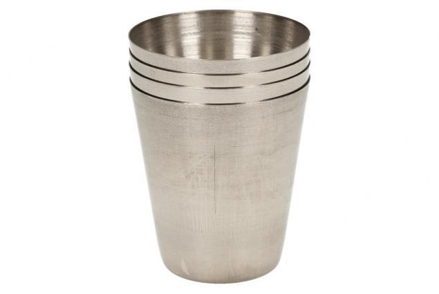 Foto 5 - Mini kovové nerez panáky na alkohol 4 x 3,5 cm 4 kusy