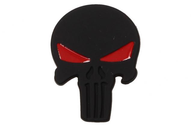 Foto 2 - Samolepka černá lebka vetřelec s očima