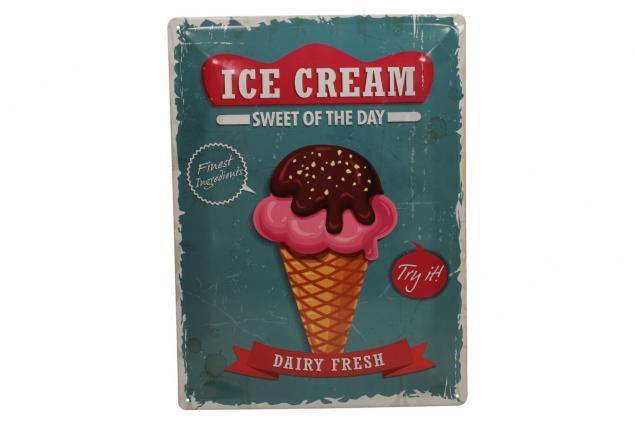 Foto 2 - Plechová cedule Ice Cream sweet of the day (30x39,5 cm)