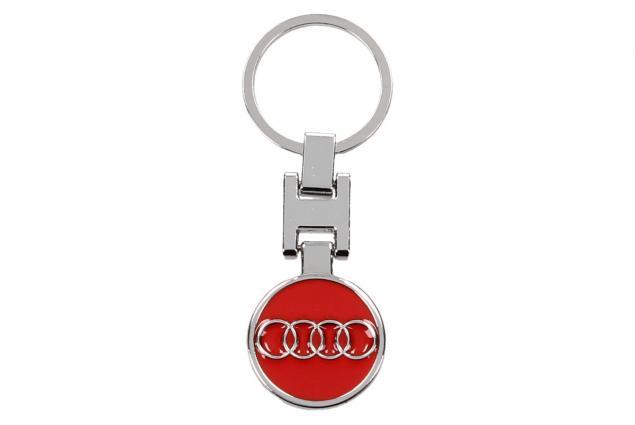 Foto 2 - Klíčenka - znak Audi CHROM červená 3 cm