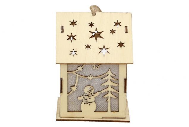Foto 3 - Svíticí Vánoční chaloupka dřevěná střední