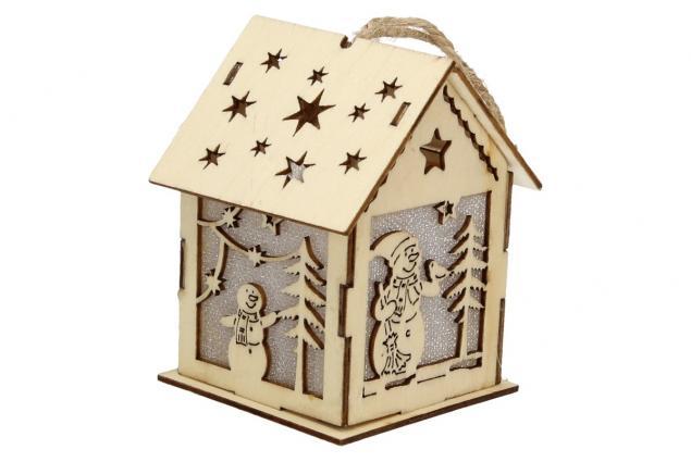 Foto 4 - Svíticí Vánoční chaloupka dřevěná střední