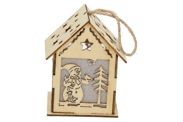 Foto 5 - Svíticí Vánoční chaloupka dřevěná střední