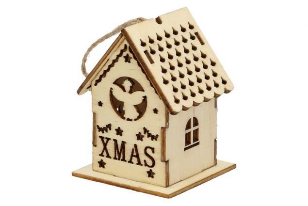 Foto 2 - Svíticí Vánoční chaloupka dřevěná malá