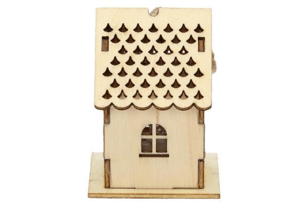 Foto 3 - Svíticí Vánoční chaloupka dřevěná malá