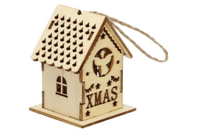 Foto 4 - Svíticí Vánoční chaloupka dřevěná malá