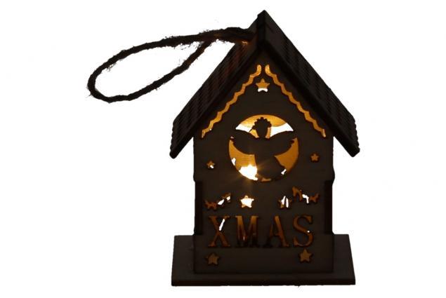 Foto 5 - Svíticí Vánoční chaloupka dřevěná malá