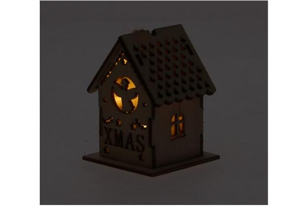 Foto 6 - Svíticí Vánoční chaloupka dřevěná malá