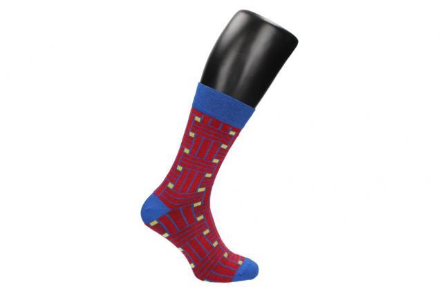 Foto 2 - Ponožky modro - červené kostičy