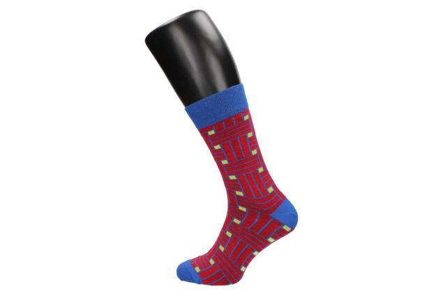 Foto 4 - Ponožky modro - červené kostičy