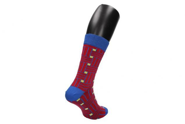 Foto 6 - Ponožky modro - červené kostičy