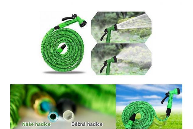Foto 5 - Smršťovací zahradní hadice - 60 metrů + rozprašovací pistole a rychlospojky