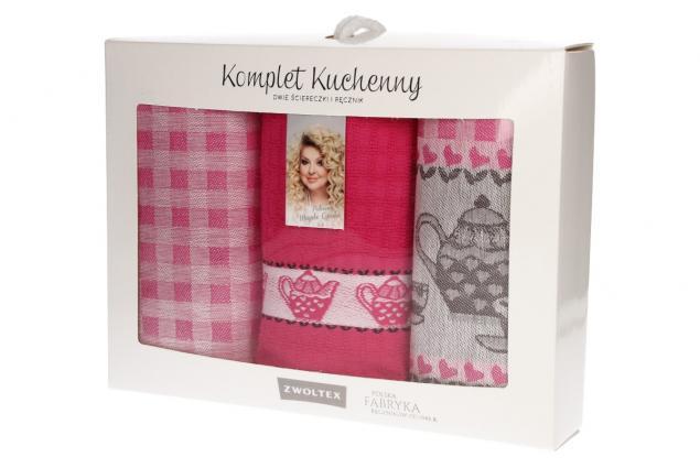 Foto 4 - Zwoltex dárková sada kuchňských utěrek 3 kusy růžová