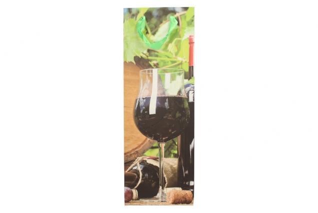 Foto 2 - Dárková taška na víno sklenička s červeným vínem 36x12 cm
