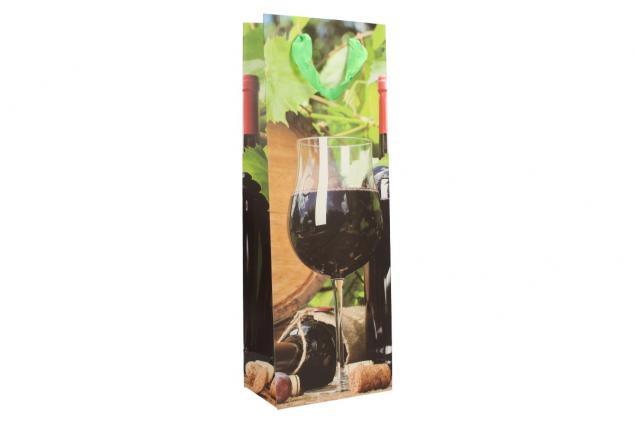 Foto 3 - Dárková taška na víno sklenička s červeným vínem 36x12 cm