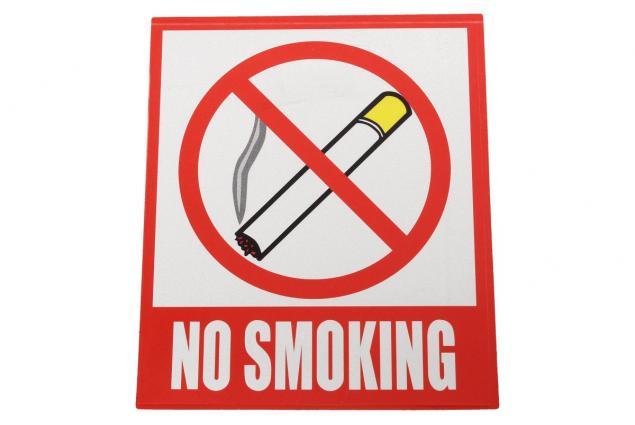Foto 3 - Reflexní samolepka NO SMOKING 12 x 10,5 cm