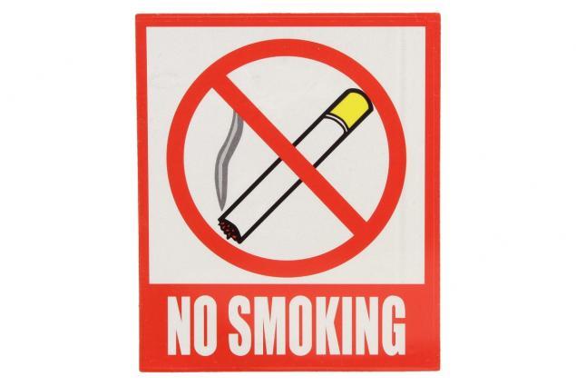 Foto 2 - Reflexní samolepka NO SMOKING 12 x 10,5 cm