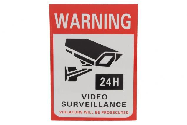 Foto 2 - Reflexní samolepka WARNING VIDEO SURVEILLANCE 14 x 10,5 cm