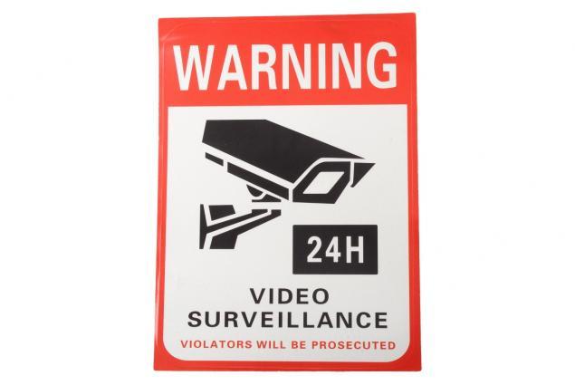 Foto 3 - Reflexní samolepka WARNING VIDEO SURVEILLANCE 14 x 10,5 cm