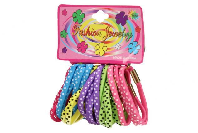 Foto 4 - Sada různobarevných gumiček do vlasů 24ks