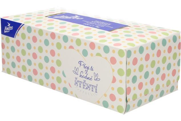 Foto 2 - Linteo papírové kapesníčky v krabičce 2-vrstvé 200 ks
