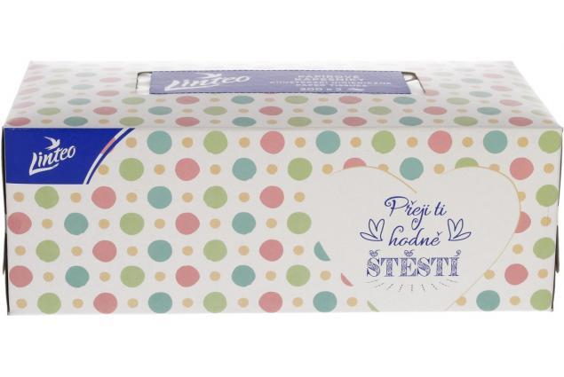 Foto 3 - Linteo papírové kapesníčky v krabičce 2-vrstvé 200 ks
