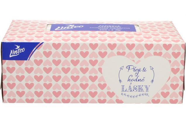 Foto 7 - Linteo papírové kapesníčky v krabičce 2-vrstvé 200 ks