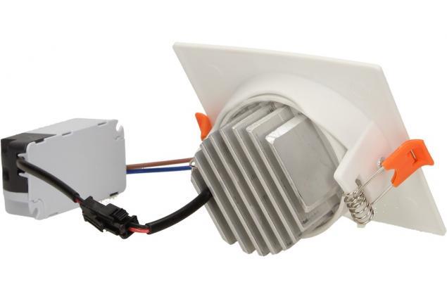 Foto 5 - Vestavné LED bodové světlo 7W čtvercové