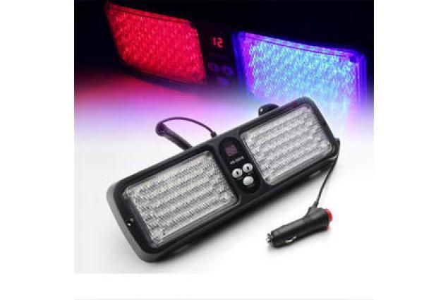 Foto 8 - Modro-červené LED výstražné světlo na sluneční clonu 12V