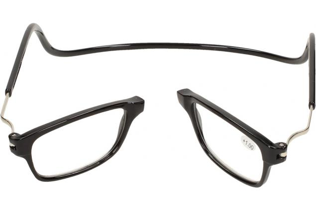 Foto 7 - Dioptrické brýle s magnetem černé +1,00