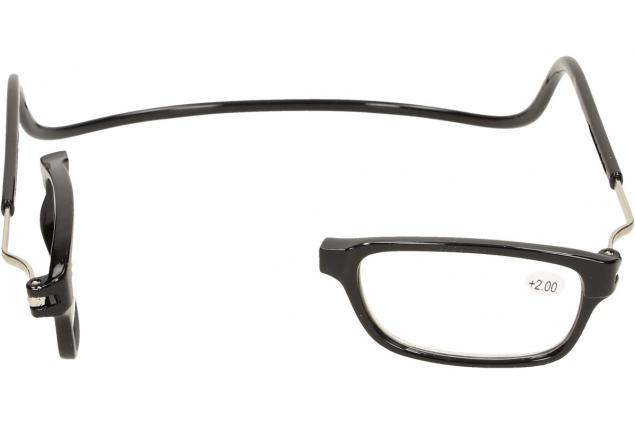 Foto 9 - Dioptrické brýle s magnetem černé +2,00