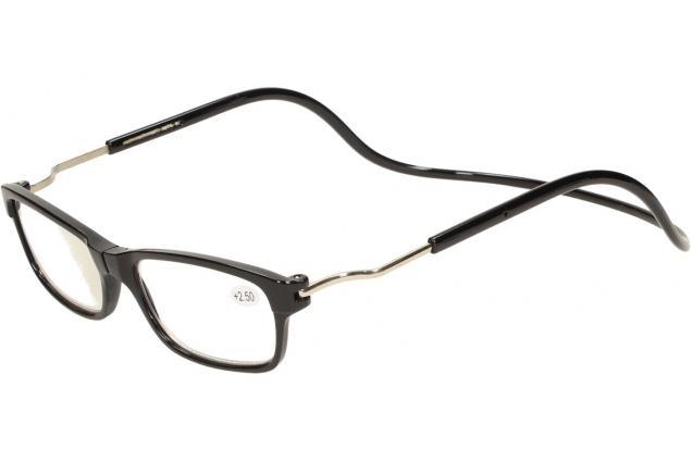 Foto 3 - Dioptrické brýle s magnetem černé +2,50