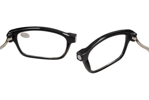 Foto 8 - Dioptrické brýle s magnetem černé +3,00