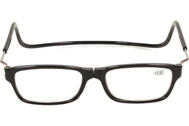Foto 2 - Dioptrické brýle s magnetem černé +3,50