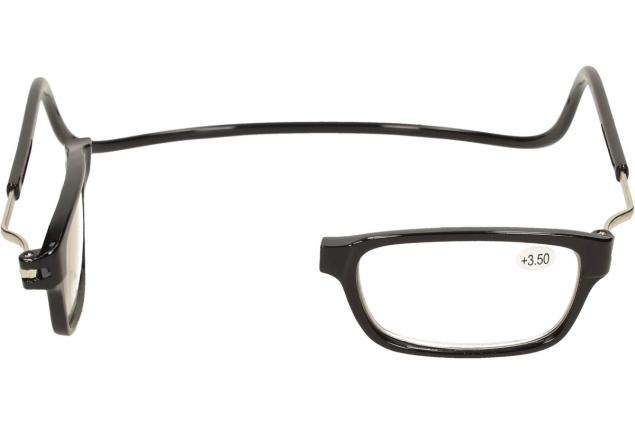 Foto 8 - Dioptrické brýle s magnetem černé +3,50