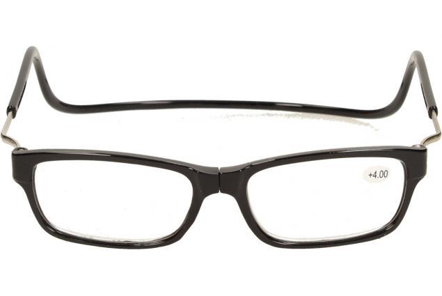 Foto 2 - Dioptrické brýle s magnetem černé +4,00