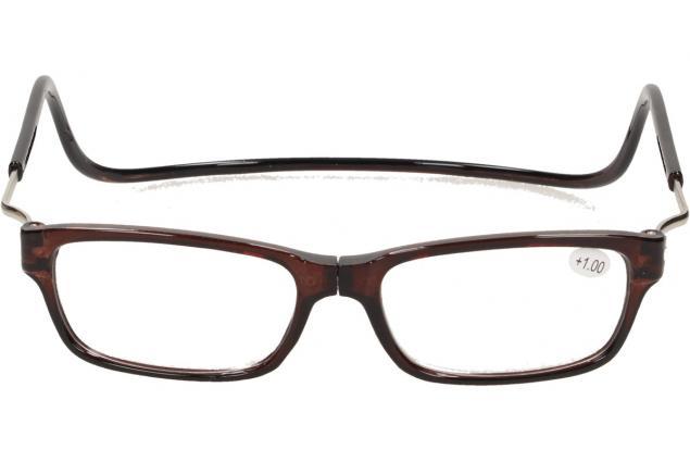 Foto 2 - Dioptrické brýle s magnetem hnědé +1,00