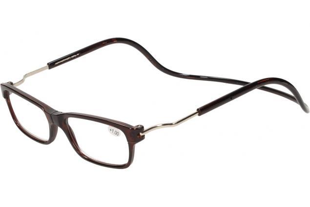 Foto 3 - Dioptrické brýle s magnetem hnědé +1,00