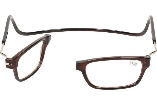 Foto 7 - Dioptrické brýle s magnetem hnědé +1,00