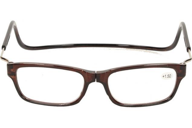 Foto 2 - Dioptrické brýle s magnetem hnědé +1,50