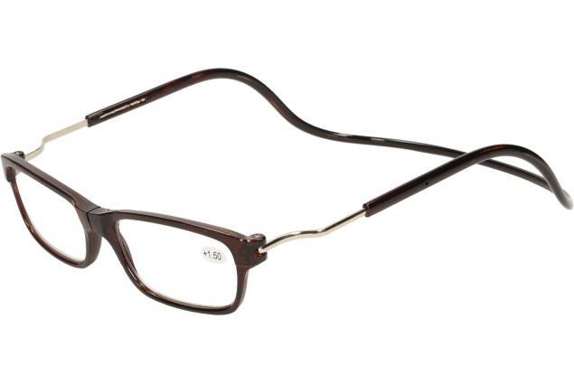 Foto 3 - Dioptrické brýle s magnetem hnědé +1,50