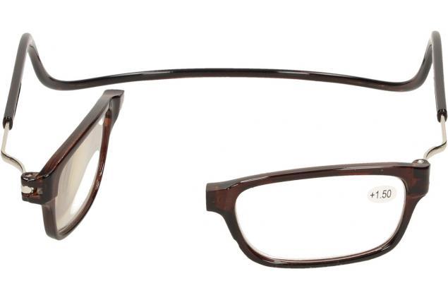 Foto 7 - Dioptrické brýle s magnetem hnědé +1,50