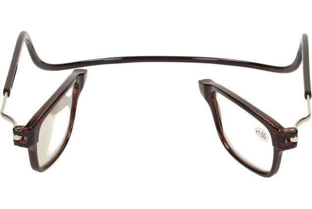 Foto 9 - Dioptrické brýle s magnetem hnědé +1,50